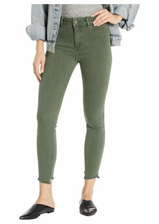 DL 1961 Florence Cropped Mid-Rise Instasculpt Skinny in Jade