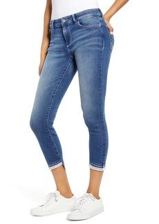 DL 1961 Florence Instasculpt Embroidered Hem Skinny Jeans