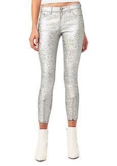 DL 1961 Florence Metallic Zip-Cuff Jeans