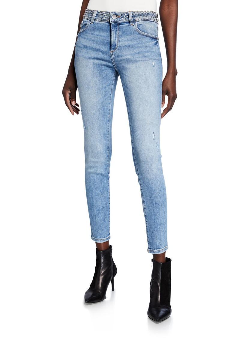 DL 1961 Florence Studded Instasculpt Ankle Skinny Jeans