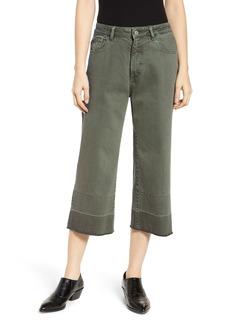 DL 1961 Hepburn High Rise Wide Leg Crop Jeans