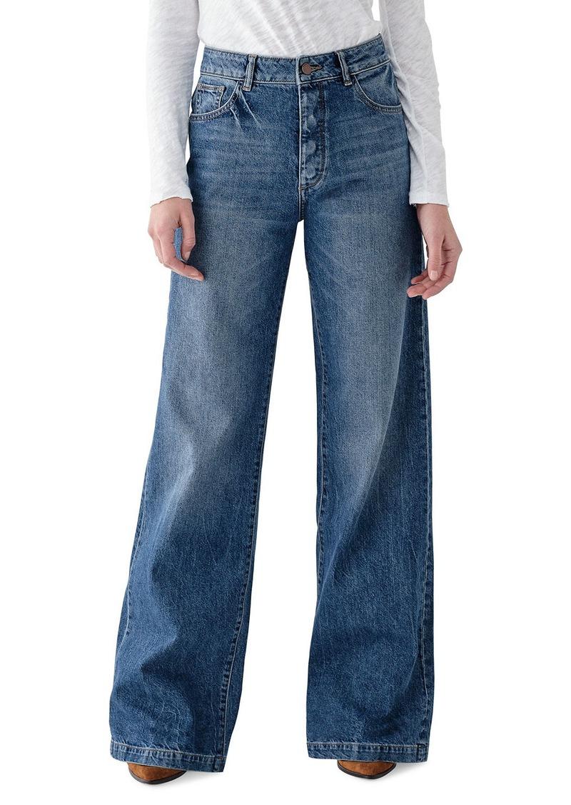 DL 1961 Hepburn High-Rise Wide-Leg Jeans