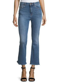 DL 1961 Jackie Trimtone Crop Flare Jeans in Marker
