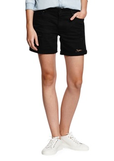 DL 1961 Karlie Boyfriend Denim Shorts - Black