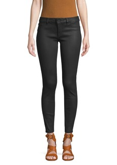DL 1961 MI-Rise Coated Ankle Skinny Jeans