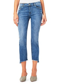 DL 1961 Mara Cropped Raw-Edge Jeans