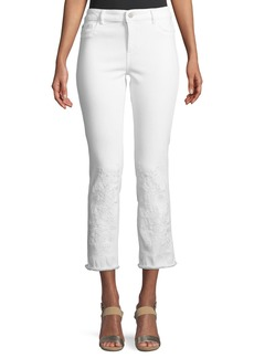 DL 1961 Mara Embroidered Instasculpt Cropped Jeans