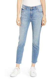 DL 1961 Mara Instasculpt High Waist Stud Ankle Jeans