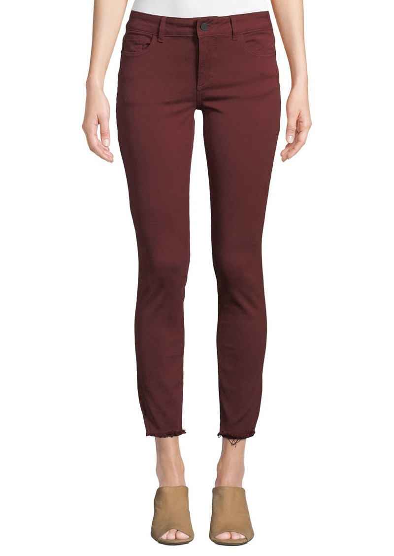 DL 1961 Margaux Mid-Rise Skinny Ankle Jeans  Red