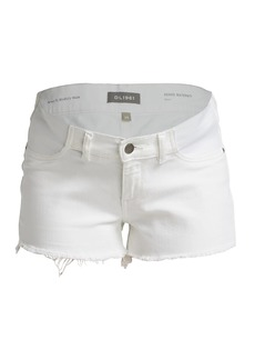DL 1961 Maternity Renee Low-Rise Denim Shorts