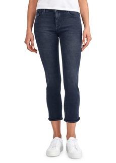 DL 1961 Mara Frayed-Hem Ankle Skinny Jeans