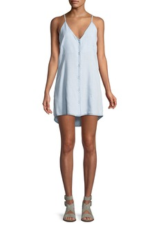DL 1961 Minetta Button-Front Slip Tank Dress