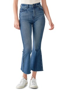 DL 1961 Rachel Cropped High-Rise Flare Jeans