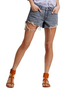 DL 1961 Renee Cutoff Shorts with Destructed Hem