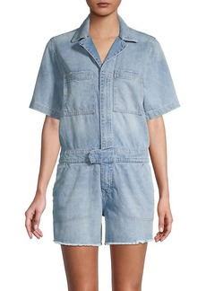 DL 1961 Short-Sleeve Denim Romper