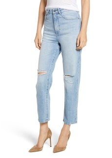 DL 1961 Susie Distressed High Rise Tapered Jeans