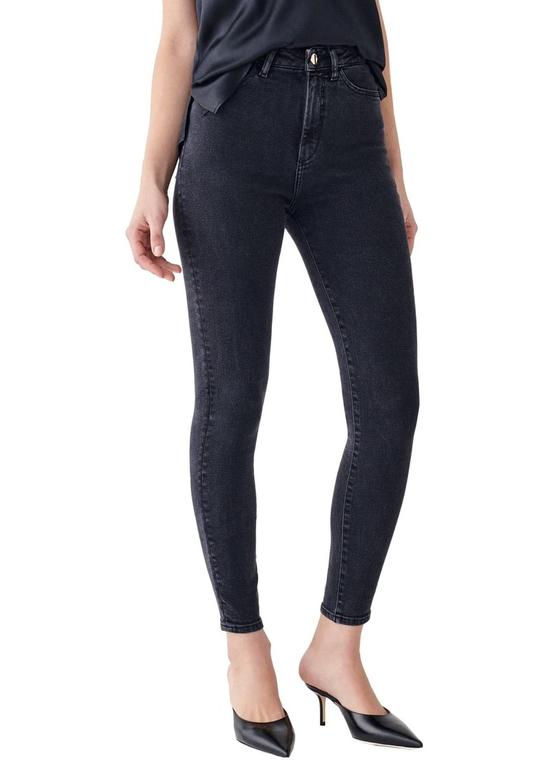 DL 1961 X Marianna Hewitt Instasculpt Chrissy Ultra High Waist Ankle Skinny Jeans