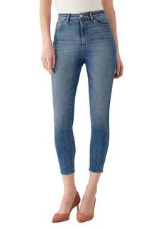 DL 1961 X Marianna Hewitt Instasculpt Chrissy Ultra High Waist Crop Skinny Jeans
