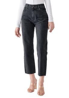 DL 1961 X Marianna Hewitt Jerry High Waist Vintage Crop Straight Leg Jeans