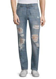 DL1961 Cooper Distressed Cotton Skinny Jeans