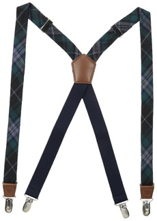 Dockers Men's 1 Inch Plaid Suspenders blue