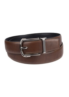 Dockers Men's 1.3 in. Wide Perfect Fit Adjustable Click To Fit Belt-brown