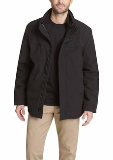 Dockers Men's 3-in-1 Soft Shell Systems Jacket with Fleece Liner black