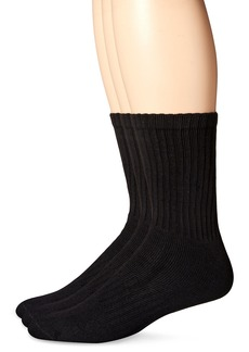Dockers Men's 3 Pairs Enhanced and Soft Feel Cushion Crew Socks