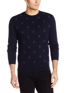 Dockers Men's Allover Anchor Crew