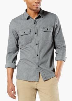 Dockers Men's Alpha Modern-Fit All Seasons Tech Flannel Shirt