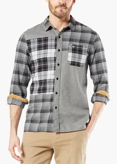 Dockers Men's Alpha Modern-Fit All Seasons Tech Mixed Flannel Shirt