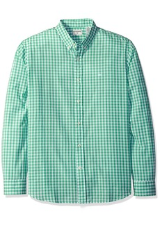 Dockers Men's Beached Poplin Long Sleeve Button-Front Shirt