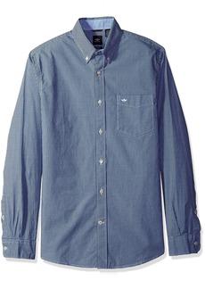 Dockers Men's Beached Poplin Long Sleeve Button-Front Shirt Dark