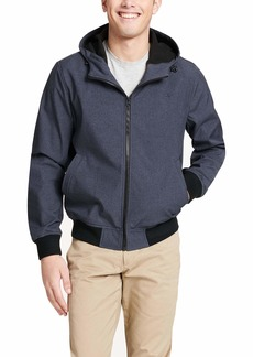 Dockers Men's Big and Tall Big & Tall Chase Performance Soft Shell Hooded Bomber Jacket  3XT