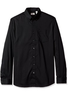 Dockers Men's Big and Tall Comfort Stretch Soft No Wrinkle Button Front Shirt black