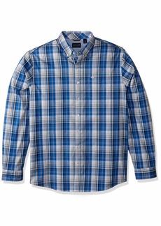 dockers Men's Big and Tall Long Sleeve Button Down Comfort Flex Shirt  4XL