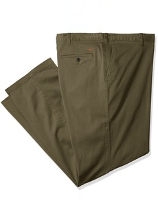 Dockers Men's Big and Tall Washed Khaki Flat Front Pant