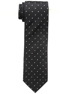 "Dockers Men's Big-tall Dockers Extra Long Men's Fulton Street Dot 100% Silk Tie (xl 63"") black"