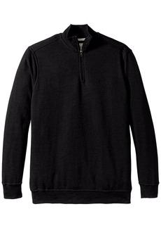 Dockers Men's Big-Tall Quarter Zip Fleece Long Sleeve Knit Shirt