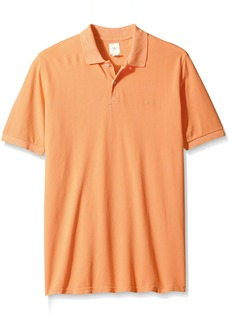 Dockers Men's Big and Tall Short Sleeve Washed Pique Polo with Dockers Logo  Large Tall