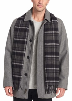 Dockers Men's Big Weston Wool Blend Car Coat with Scarf (Standard & Big-Tall Sizes)