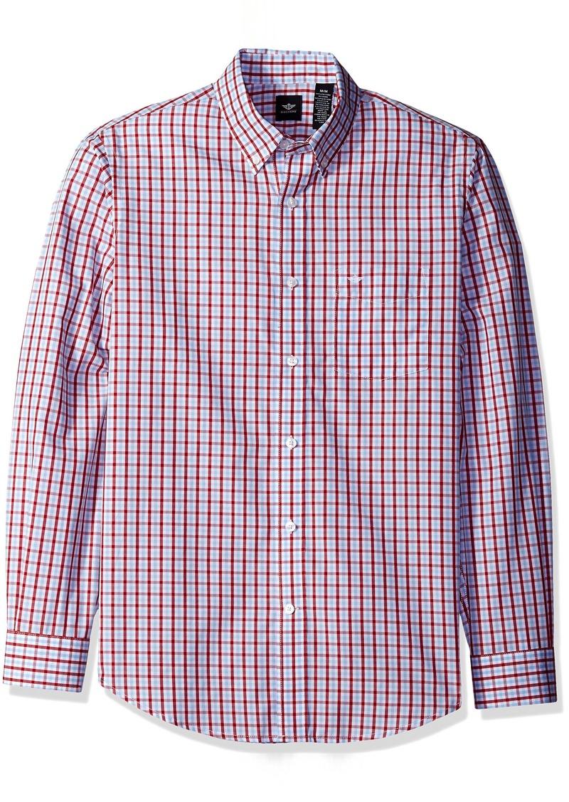 Dockers Men's Button-Down Collar Long Sleeve Shirt with Spade Pocket