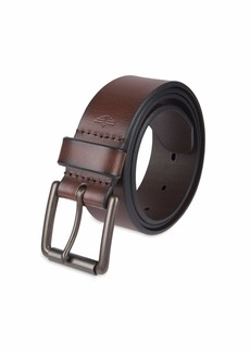 Dockers Men's Casual Leather Belt - 100% Soft Top Grain Genuine Leather Strap with Classic Prong Buckle 42