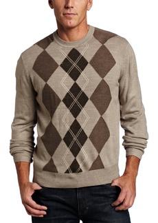 Dockers Men's Center Argyle Crew Sweater