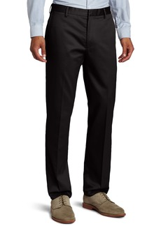 Dockers Men's City Khaki Slim Tapered Flat Front Pant Black - discontinued