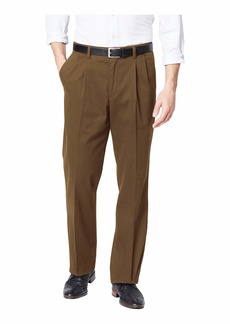 Dockers Men's Classic Fit Easy Khaki Pants-Pleated Tobacco -Brown 36Wx34L