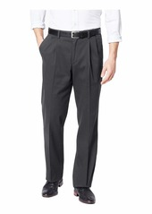 Dockers Men's Classic Fit Easy Khaki Pants-Pleated Storm Heather -Grey 40Wx34L