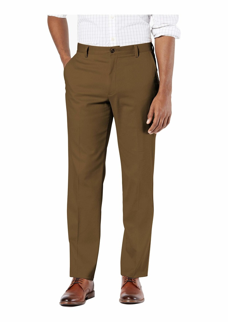 Dockers Men's Classic Fit Easy Khaki Pants (Regular and Big & Tall) Tobacco -Brown 36Wx34L