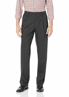 Dockers Men's Classic Fit Signature Khaki Lux Cotton Stretch Pants-Pleated charcoal heather