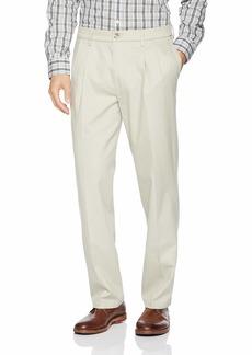 Dockers Men's Classic Fit Signature Khaki Lux Cotton Stretch Pants-Pleated cloud